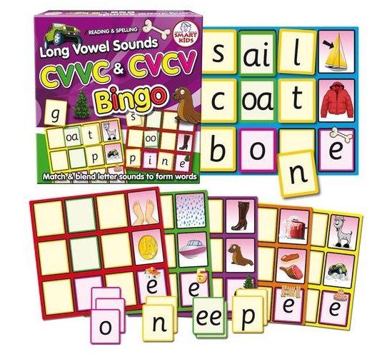 Long Vowel Sounds Bingo