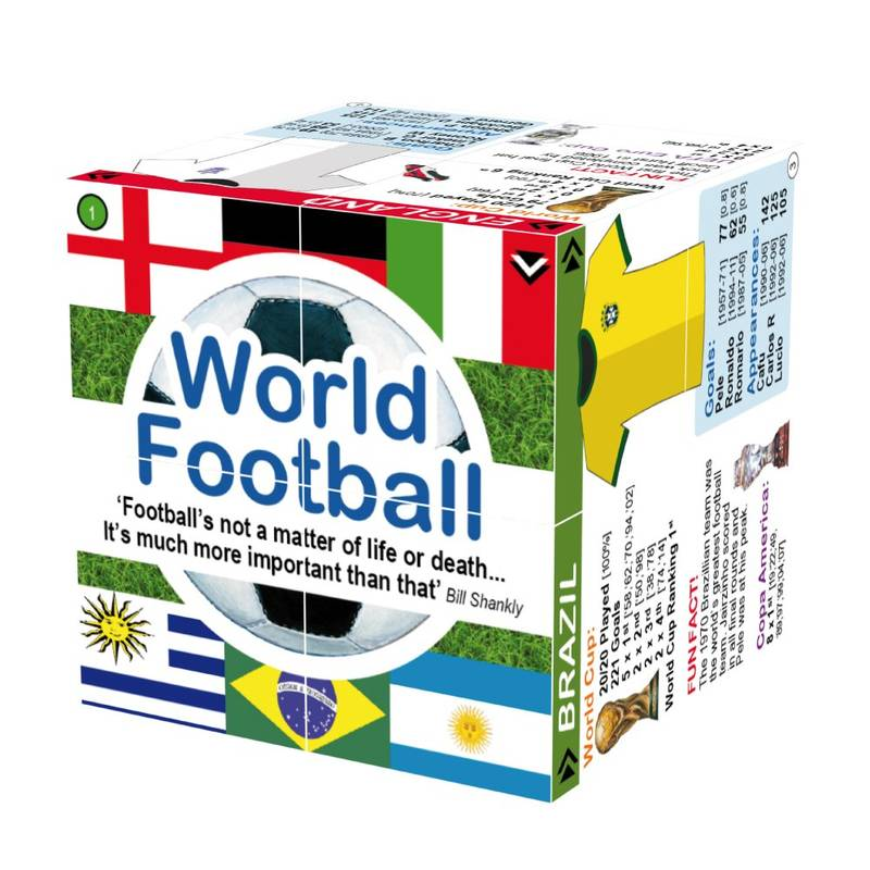 World Football - Cube Book kniha o fotbalu v kostce