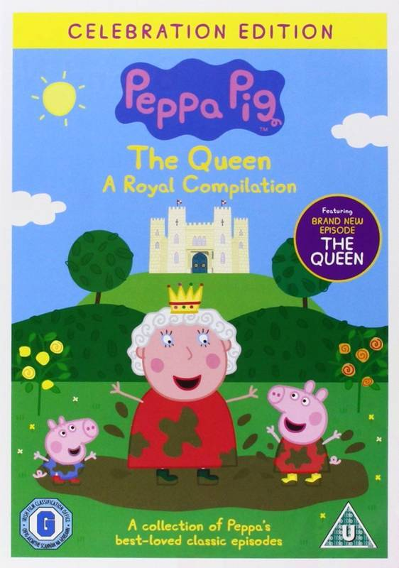 DVD Peppa Pig: The Queen Royal Compilation Prasátko Peppa anglicky