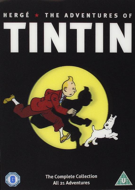 5x DVD The Adventures of Tintin