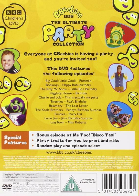 DVD CBeebies - The Ultimate Party Collection
