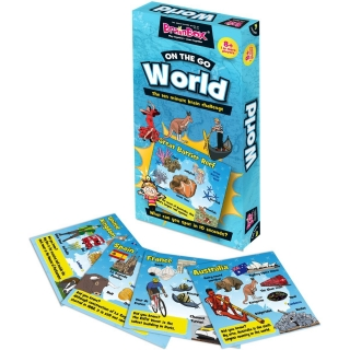 BrainBox On The Go 'World' Card Game