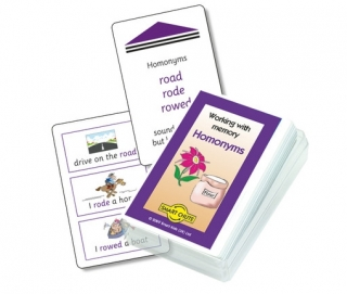 Homonyms Chute Cards