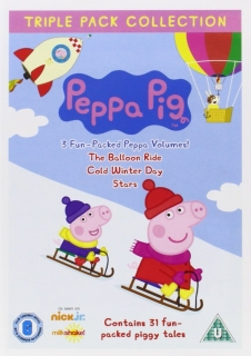3 x DVD Peppa Pig - Balloon Ride / Cold Winter's Day / Stars